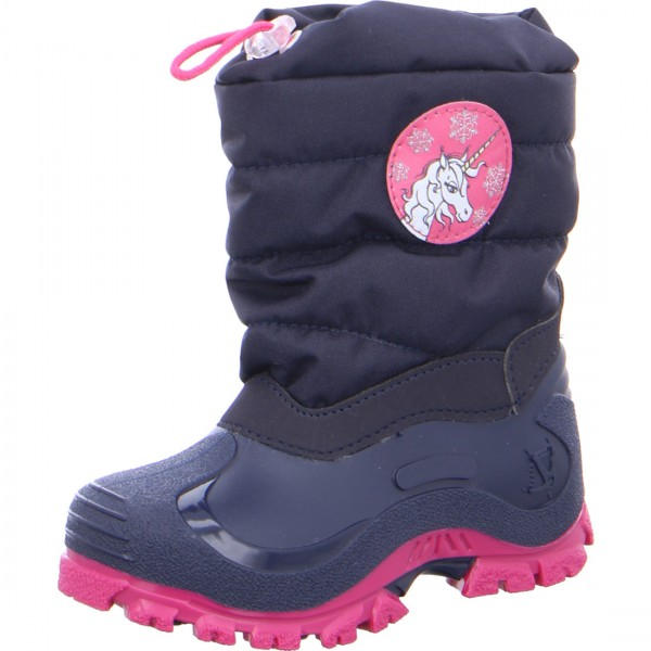 Mädchen Schneestiefel FEE navy pink